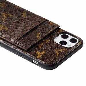 iphone12 12pro 11 11pro max x xr xsmax 가죽 카드 사진 포켓 디자이너 전화 케이스에 대한 새로운 패션 전화 케이스