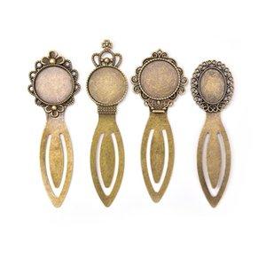 rotondo 20 millimetri 1pc cabochon Impostazioni Vassoio segnalibro bronzo antico placcato forniture per gioielli
