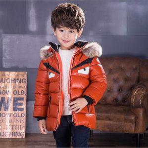 Дети зима пальто мальчики мальчики пальто меховые пальто с капюшоном для 2-12 лет ребенка малыш мальчиков толщиной пальто