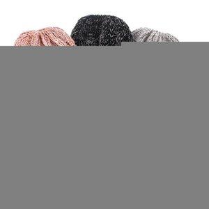 겨울 지저분한 롤빵 모자 어린 소녀의 모자 어린이 스트레치 니트 지저분한 아름다운 롤빵 구멍 투성이의 크로 셰 뜨개질 따뜻한 모자