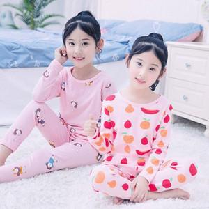 Enfants Enfants Filles manches longues pyjamas Ensembles d'impression Casual deux pièces mignon vêtements de nuit Pyjama Minecraft Pyjama pour les garçons Mi Hncj #