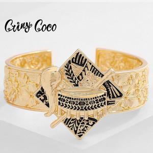 CRING COCO HAWAIIAN Bracte мода Полинезийский этнический племенной золотой цвет барабан ювелирных изделий браслетов для женщин 2020 новый дизайн браслеты