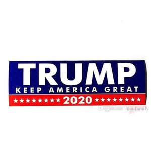 10Pcs HOT Donald Trump 2020 Car Stickers 7.6*22.9cm Bumper Sticker Keep Make America Great Decal for Car Styling Vehicle Paster 3 New Styles