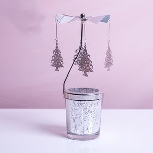 A-DIY Rotating Windmill Candlestick Metal Creative Candle Holders Gift Girl Table Decor Owl Snowflake
