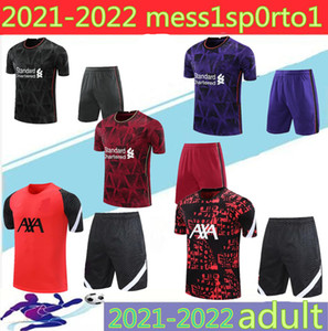 2020 21 Liverpool Costume à manches courtes Polo manches courtes Football Polo 3/4 costume Jogging Chandal Futbol Taille S-2XL