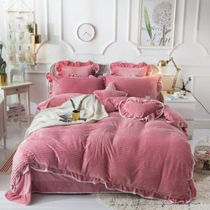 Thickening and raising fabric Luxury Bedding Set Soft Bedclothes Duvet Quilt Cover Bed Linen sheet set 4 Pieces Bedding Sets