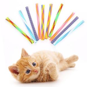 Случайный цвет нейлон Cat игрушки Смешных Cat палки телескопической штанги Игрушка для домашних животных 13см Diy Непоседу игрушка Несколько способов играть bbycqd bdesports