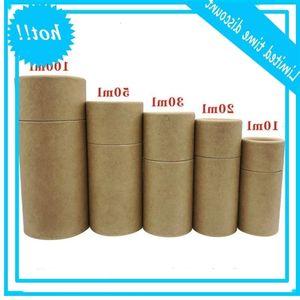 Tubos de cartón premium Caja de embalaje Kraft Caja de regalo para la botella de aceite esencial 10ml - 100ml SN3611