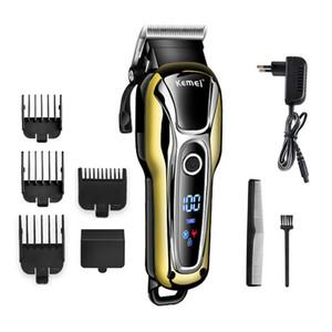 100-240V Rechargeable Hair Trimmer Professional Hair Clipper Hair Cutting Machine Cutting Beard Electric Razor Cordless Free Shipping