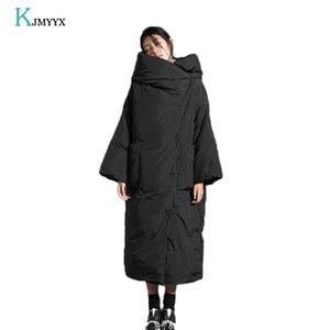 KJMYYX femmes Veste d'hiver Nouveau Épaissir long parka avec capuche femmes manteau d'hiver chaud Veste Femme Manteaux Pardessus 201014