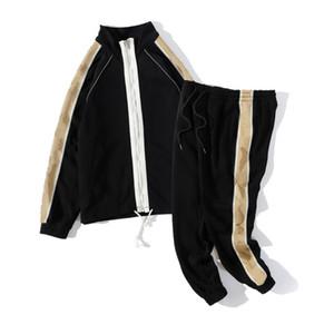 gucci Hombre Ropa para hombre 2020 de la marca Sweat Traje de primavera otoño Manga larga de dos piezas de caída del chándal de jogging Chaquetas + pantalones
