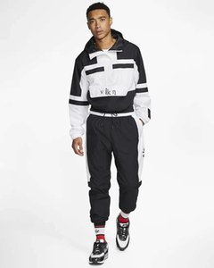 Mens Tracksuit Fashion Designers Hoodies and Pants 2 Piece Sets Solid Color Outfit Suits 2020 High Quality Tracksuits for Mens 3-Color