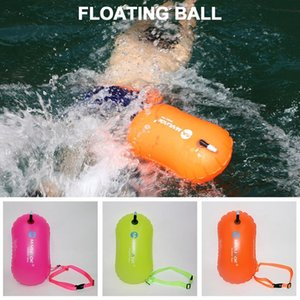 Inflatable open-ended swimming buoy Trailer dry bag double balloon belt swimming sports water storage safety bag