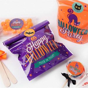 20pcs 14x19cm Halloween Candy Bag fiesta de Halloween feliz bolsa Gato de la historieta de la araña de plástico favores de caramelo de la galleta Empaque y vjoN #