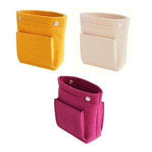 New Women Felt Cosmetic Bag Travel Organizer Handbag Purse Insert Type Toiletry Bag Storage Pouch Makeup Cases Female Tote
