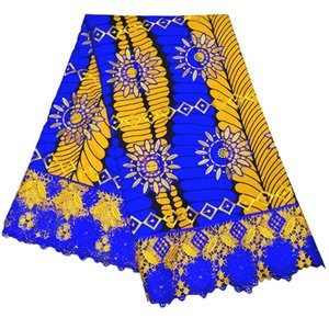 2020 New Gothic Style Wax African Lace Embroidery DIY Fabric 6Yards\lot