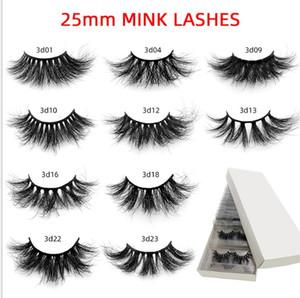 Whloesale 25mm 3d Mink Lashes Fluffy Lashes In Bulk Dramatic Long Natural Eyelashes Makeup Mink Eyelashes