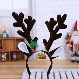Новый Рождество оголовье Hat Костюмированный Hat Олени Санта Antlers Xmas малышей ребёнков взрослых Новизна Hairwear Для Новогодний подарок GWE2933