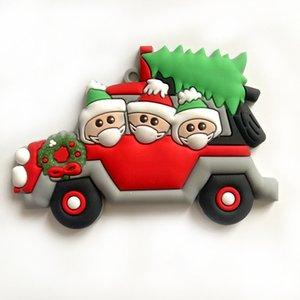 Natal da família enfeite de natal DIY Greetings festa de aniversário do Natal Quarentena árvore Pendant face PVC Máscara Pendant GGB2349