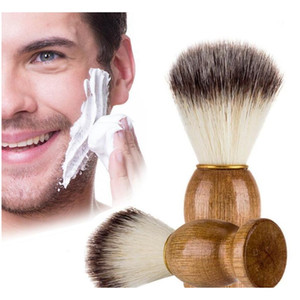 eco-friendly barber salon shaving brush wooden handle blaireau face beard cleaning men shaving razor brush cleaning appliance tools