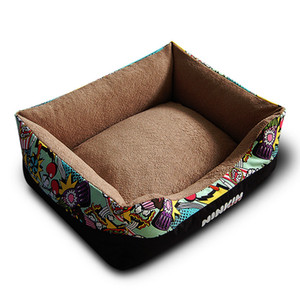 Stylish Colorful Cats Bedding Fashion Pink Blue Pet Kennels Warmer Dogs Sleeping Home Puppy Bulldog Akita Beds Pens