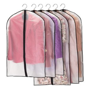 Dustproof Cloth Cover Bags Transparent Wardrobe Storage Bag Dust Cover Clothes Protector Garment Suit Coat Dust Cover