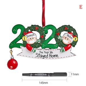 Año Nos alojamos en casa Holiday 2020 Decoraciones Ornamento de Navidad Árbol de Navidad Decoración XX59