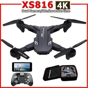 XS816 RC Drone with 50 Times Zoom WiFi FPV 4K  720P Dual Camera Optical Flow Quadcopter Foldable Selfie Dron VS SG106 M70 B4W1