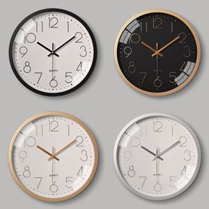 12Inch Plastic Silent Wall Clock Creative Household Three-Dimensional Digital Scale Wall Clock Hanging Watches Living Room LD405