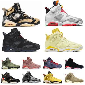 Zapatos Nike Air Jordan Retro 6 Jordans Jumpman Hare 6s VI Travis Scott Cactus Jack Zapatillas de baloncesto para mujer para hombre Singles Day Pink Floral Smoke Grey Entrenadores