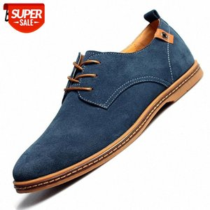 BAOLUMA 2020 Fashion Men Casual Shoes New Spring Men Flats Lace Up Male Suede Oxfords Leather Shoes Zapatillas Hombre 38-48 #be6k