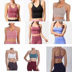 Yoga Sports Bra Full Cup Quick Dry Top Shockproof Cross Back Push Up Workout Bra LULEMON Women Gym Running Jogging Fitness Bra ne 08OT#