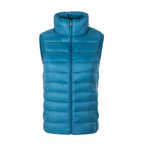 Women Sleeveless Jacket New Autumn Winter Ultra Light White Duck Down Coat Female Outwear Slim Vest Warm Waistcoat Sf426