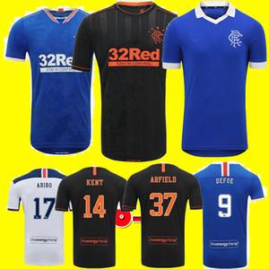 2020 2021 Glasgow Rangers FC Home Dritte Away Fussball Trikots 20 21 Retro Defoe Hagi Morelos Tavernier Rangers Fussball Hemden Männer + Kinder