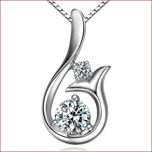 Top Grad Diamant Anhänger Halskette Kubikzircon 30% 925 Sterling Silber Little Mermaid Anhänger Halskette Für Hochzeitsfest Schmuck 61 J2