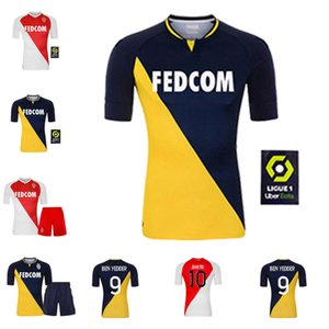 2020 As Monaco Soccer Jersey Ben Yedder Jovetic Glik Gelson .MM Golovin Keita Balde Personalizzato 20 21 Casa Away Camicia da calcio per bambini adulti
