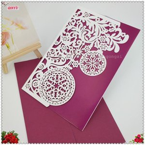 30PCS Lot Vintage Laser Paper Invitation Cards 18*12cm Romantic Wedding Birthday Party Supplies Decorations 5ZSH834-30