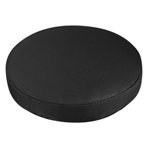 VORCOOL 1PC 33cm Thick Elastic Barstool Seat Cushion Cover Cotton Stool Cover Soft Round Chair Protector (Black)