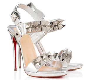 Hot Vente- Gladiator Sandales meilleure qualité Red Bottom Cataclou Sandales New Designer femmes chaussures partie chaussures d'été de mode de mariage
