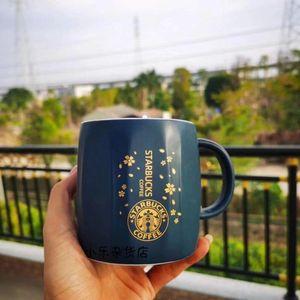 350ml Starbucks Coupe de luxe Tasses en céramique avec couvercles et cuillère Anniversaire Matin Tasse Matin Tasse Break Tea Petit déjeuner Valentin Jour Caisse Coupe-cadeau