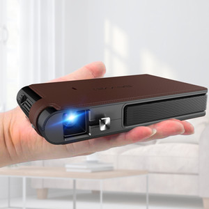 Pocket Wifi Projector Mini HD DLP Battery Support 1080P Airplay 3D, Small Wireless Portable Pico Size with Speaker Auto Keystone