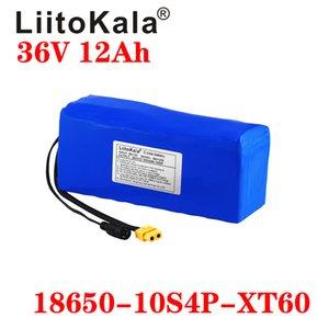 LiitoKala 36V 12AH bateria elétrica da bicicleta construído em 20A BMS Lithium Bateria 36 Volt com 2A carga Ebike bateria XT60 Pllug