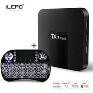 لوحة المفاتيح TX3 مصغرة الروبوت التلفزيون مربع مع الماوس الهواء 1G 8G الإنترنت 4K ميديا بلاير S905W رباعية النواة تعيين كبار مربع