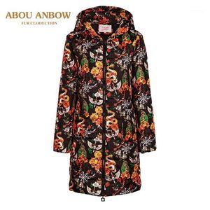 Women's Trench Coats Print Parka Winter Jacket Women 2021 Fashion Coat Thick Cotton Long Warm Plus Size 5XL Oversize1