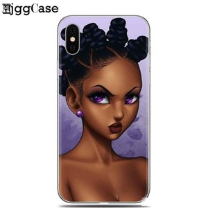 For Iphone 7 2bunz Melanin Poppin Aba Black Girl Women Art Soft Silicone Phone Case For Iphone X 6 6s 7 8 Plus 5 5s Se Cover
