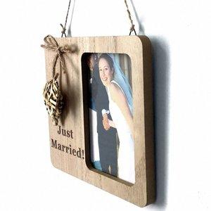 Ornamento Engagement partido Tabela Decoração do casamento contagem regressiva de madeira Frame Valentines Day Anniversary DIY Imagem Amor Blackboard HNBV #
