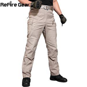 ReFire Gear New IX8 Cargo Pants Men Tacitical Muti Pockets SWAT Army Combat Pant Male Military Assault Cotton Workout Trousers 201112