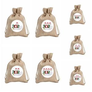 가족 크리스마스 선물 가방 졸라 매는 끈 주머니 사탕 가방 눈사람 트리 장식이 Ornamentparty가 장식 소품 LSK1522 회화 걸려 마스크