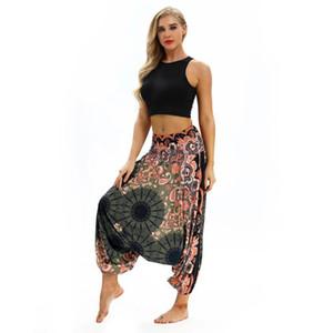 Charming Yoga Pants Women High Waist Wide Leg Bloomers lose Sommer gedruckte Hosen Strand Sportswear für Damen und Lady