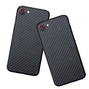 2020 Luxury Slim Matte Hard Carbon Fiber Shockproof Armor Phone Case for iPhone 8 7 SE 2 Back Cover 4.7
